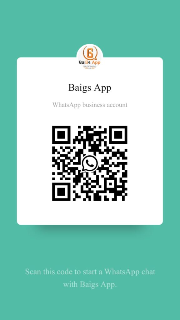 QR code of Whatsapp number of baigsapp.com